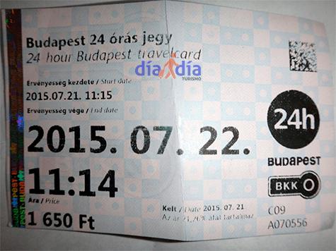 Travel Card, pase de 24 horas para el transporte público en Budapest