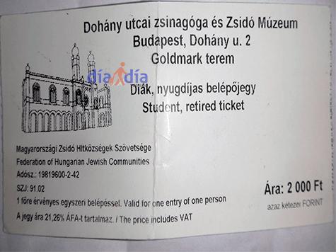 Entrada sinagoga Dohany