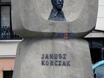 Homenaje a Janusz Korczak, quien salvo a muchos niños durante el Holocausto